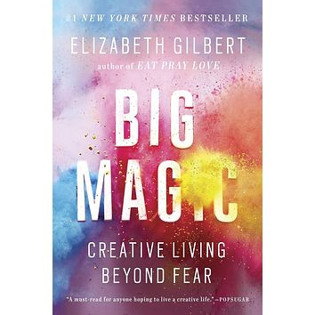 "(BARGAIN BOOKS) Big Magic: Creative Living Beyond Fear by Elizabeth Gilbert - Plus Free ""Read Feminist Books"" Pen"