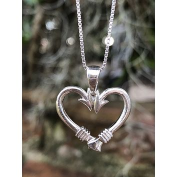 Minimalist Anglers Heart necklace