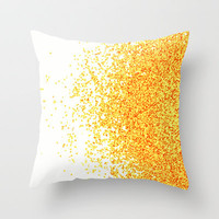 burned sugar Throw Pillow by Marianna Tankelevich
