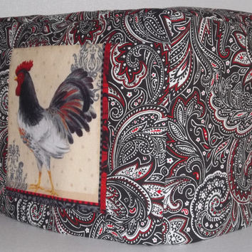 Toaster Cover - 2- slice toaster - Rooster and Paisley