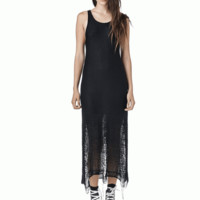 Throw on a casual or chic look with the Divided Mind Loose Strings Knit Dress by Unif clothing. Featuring a round neckline, sleeveless with thick shoulder straps, knit gradient that gets loose as it goes down, and scoop back.