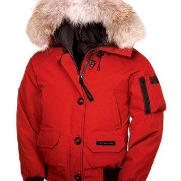 Canada goose chilliwack bomber winter WOMEN red Down jacket