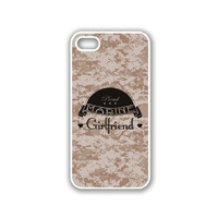 Proud Marine Girlfriend 1 Camo iPhone 5 White Case - For iPhone 5/5G White - Designer TPU Case Verizon AT&T Sprint