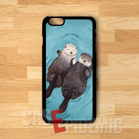 romantic otters Holding Hands-nay for iPhone 4/4S/5/5S/5C/6/ 6+,samsung S3/S4/S5,S6 Regular,samsung note 3/4