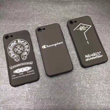 Supreme x champion 360 full protection hard plastic matte NEW Case Cover for iphone