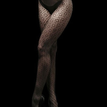 Queen of Diamonds Fishnet Tights