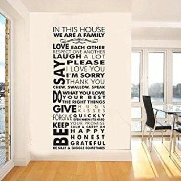 We Are Family Home Decor Creative Quote Decal Wall Sticker