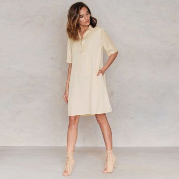 Chicloth V-Neck T-Shirt Dress