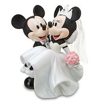 Wedding Minnie Mouse and Mickey Mouse Figurine   Disney Store