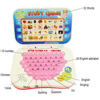Early Learning Educational Computer Toys for Kids Boys Multifunction Mini Childhood Girls English Learning Machine