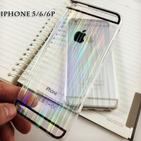 Unique Laser Transparent iPhone 5s 6s 6 Plus Cases