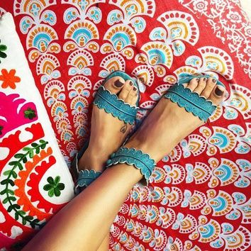 MIDSUMMER. Boho leather sandals / barefoot leather sandals / women shoes / flat shoes