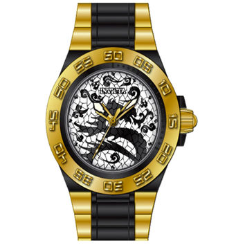 Invicta 11551 Men's Subaqua Sport Dynasty Dragon Goldtone Bezel Plastic and Stainless Steel Watch