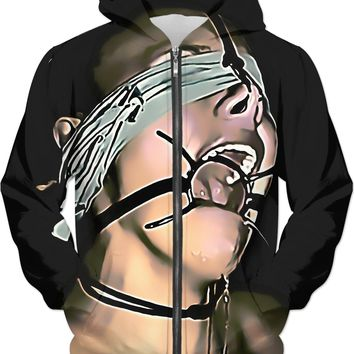 Adult erotic series, unisex fit hoodie - Games of sex and submission, submissive girl