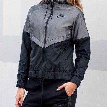 """Nike"" W NSW Windrunner Jacket Black&Grey"