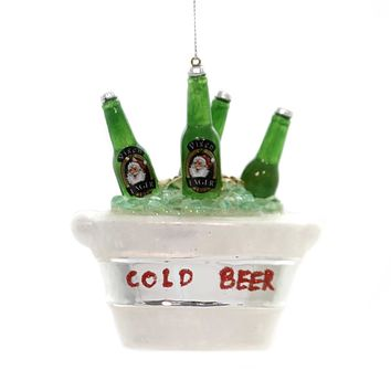 Holiday Ornaments BUCKET OF BEER Glass Lager Ice Cold 70019