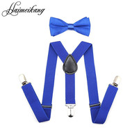 Suspenders and Bow Tie Set Braces Elastic Y-back for Baby Kids Red Pink Black Blue Boy Girl Suspenders and Bow Tie