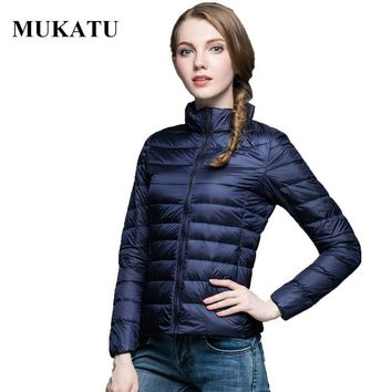 Ultra Light White Duck Down Jacket Women 2016 Sexy Winter Down Coat Plus Size Packable Jacket Brand Women Down Parkas S-3XL