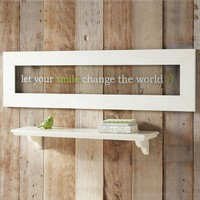 Let Your Smile Change the World Framed Glass Art