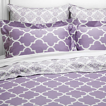 Z Gallerie - Mimosa Reversible Bedding - Orchid