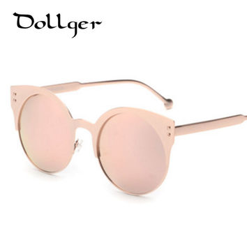 2016 new Vintage CAT EYE sunglasses women mirrors glasses men oculos METAL coating sunglass safety sun glasses ANTI-UV 400 S0810