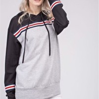 12PM by Mon Ami Color Block French Terry Hoodie