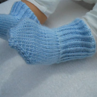 Baby Boy Blue Socks, Infant Socks, Baby Shower Gift, Hand Knit Socks, Baby Socks