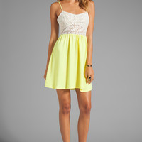 Testament Crochet Mini Dress in Lime