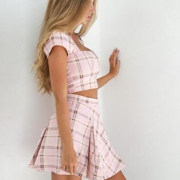 Buy Our Cherry Skirt in Pink Plaid Online Today! - Tiger Mist