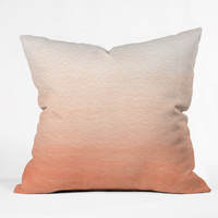 Social Proper Peach Ombre Outdoor Throw Pillow