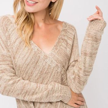 Milan Crossover Knit Sweater