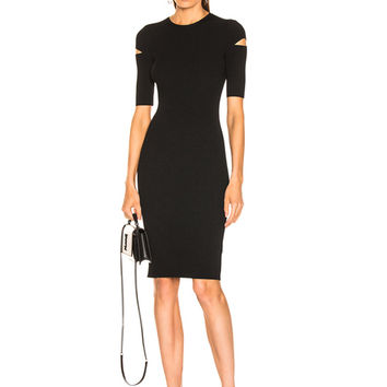 Helmut Lang Slash Dress in Black | FWRD
