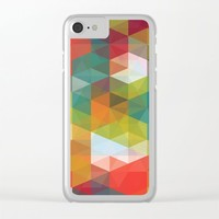 Transparent Cubism Clear iPhone Case by All Is One