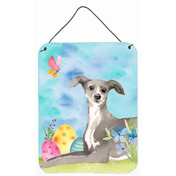 Italian Greyhound Easter Wall or Door Hanging Prints BB9631DS1216