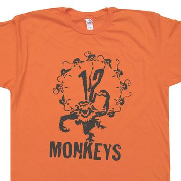 12 Monkeys Shirt 12 Monkeys T Shirts Science Fiction Vintage Movie Tee Shirts