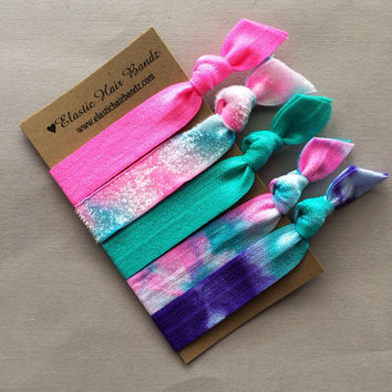 The Maggie Tie Dye Hair Tie -Ponytail Holder Collection by Elastic Hair Bandz