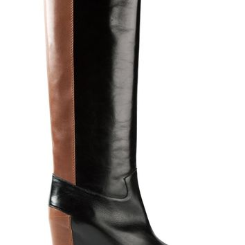 MM6 By Maison Martin Margiela contrast knee-length boots
