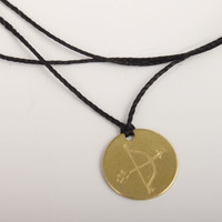 catbird brass disc necklace/bracelet-arrow stamp