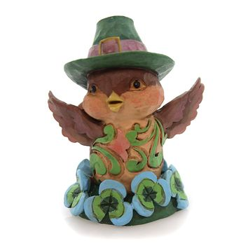 Jim Shore Irish Bird Mini Figurine