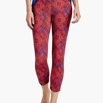 Lucky Brand Canyon Rug Patch Legging Womens - Red Multi