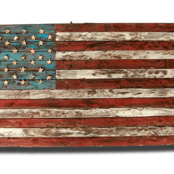 American Flag Weathered Wood One of a kind by ChrisKnightCreations