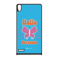 Sassy - Hello Gorgeous 10433 Black Silicon Rubber Case for Huawei P6 by Sassy Slang