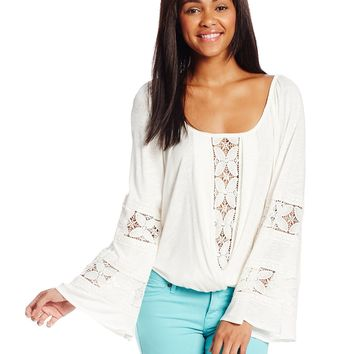 XOXO Juniors Surplus Slub Knit Peasant Blouse
