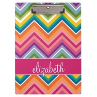 Huge Colorful Chevron Pattern with Name