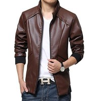 New Leather Jackets Men Autumn Winter Leather Clothing clothes Men Leather Jackets Male Business casual Coats