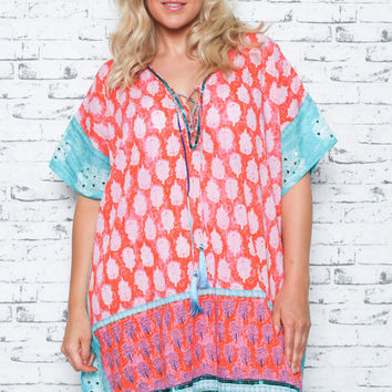 Gwen Kaftan in Melon (Plus Size)