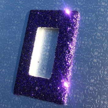 Purple Glitter Single Rocker Plate
