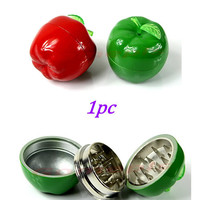 Metal Apple Shaped Herbal Herb Tobacco Grinder Smoke Crusher