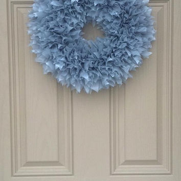 Indoor Outdoor All-Weather Wreath...Silver. Perfect for Spring! Easter, birthday party, baby shower, Mother's Day, Summer, wedding