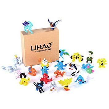 LIHAO 24 Piece Mini Pokemon Action Figures